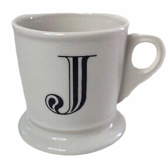 ANTHROPOLOGIE J Coffee Cup Initial J Ceramic Mug